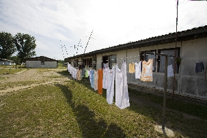 A collective centre in Krnjača, Serbia housing Serb refugees from Croatia (novossti.com)